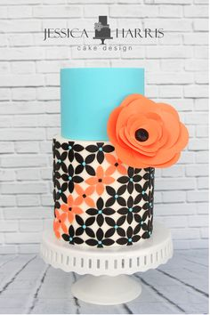 Petal Flower Cake Template - 3 Designs - Jessica Harris Cake Design