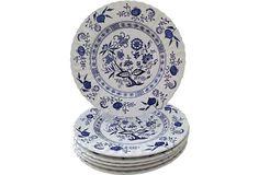 Nordic Blue Dinner Plates, S/6 on OneKingsLane.com