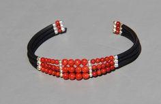 Bracelet HOMME en corail véritable rouge de Corse (corallium rubrum ) : Bijoux pour hommes par les-tresors-de-la-corse