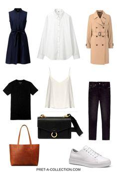 Create a Capsule Wardrobe On a Budget - Pret-a-Collection Capsule Wardrobe Work, Capsule Outfits, Capsule Clothing, Wardrobe Basics, Work Outfits, Wardrobe Staples, Professional Wardrobe, Classic Wardrobe, Minimalist Wardrobe