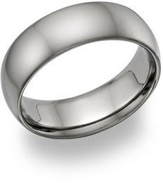 ApplesofGold.com - Plain Titanium Wedding Band Ring, $125