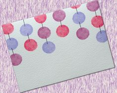 Personalized Dangling Watercolor Spheres Note Cards Set of 6 by OlivineStationery on Etsy