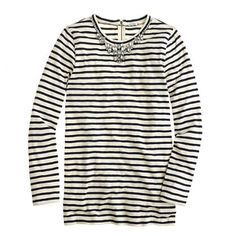 Stripe necklace tee - tops & blouses - Women's shirts & tops - J.Crew