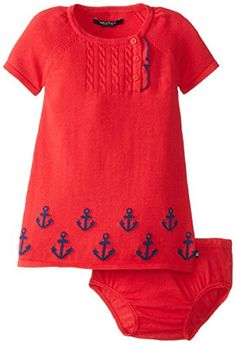 Nautica Baby-Girls Infant Anchor Print Sweater Dress, Dark Red, 12 Months Nautica http://www.amazon.com/dp/B00KD98VHC/ref=cm_sw_r_pi_dp_WgZoub0H4AJ8D