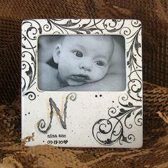 Beautiful #handpainted #Baby Photo Frame