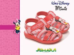 Linda sandália da Minnie!