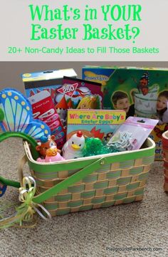 Easter basket for a one year old holidays pinterest easter 20 non candy ideas to fill your easter basket negle Images