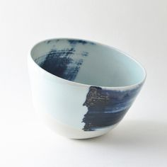 Image of blue altered bowl II