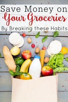 Save money on groceries with these frugal living tips. By breaking these habits you will be shocked at home much you can save. Eat On A Budget, Budget Meal Planning, Living On A Budget, Frugal Living Tips, Fast Easy Meals, Frugal Meals, Cheap Meals, Money Saving Meals, Save Money On Groceries