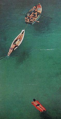 1960s VINTAGE PHOTO Men Beach Swimwear    taken from Life Magazine