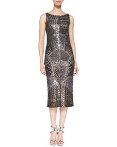 No woman's wardrobe is complete without a slinky sequined cocktail dress.    Sequined Cowl-Back Cocktail Dress by Pamella Roland at Bergdorf Goodman.