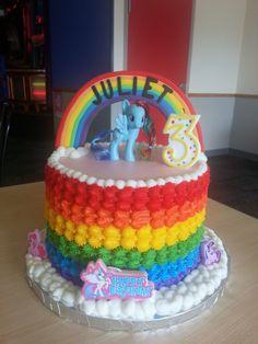6 layer 9-inch rainbow cake