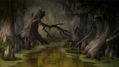 Animation Backgrounds Princess & the frog Environment Painting, Environment Concept Art, Environment Design, Cartoon Background, Animation Background, Art Background, Fantasy Landscape, Fantasy Art, Fantasy Places