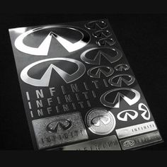 Car Metal Plate Stickers Decals for INFINITI