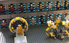 Iron Man: STARK VAULT Custom Armory Display Set for Lego size Minifigures (inc. 17 MK Super Hero Minifigs!) on Etsy, $134.00