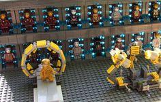 Iron Man: STARK VAULT Custom Armory Display Set for Lego size Minifigures (inc. 17 MK Super Hero Minifigs!) on Etsy, $134.00