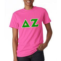 Delta Zeta Sorority Letter T-Shirt $15.99