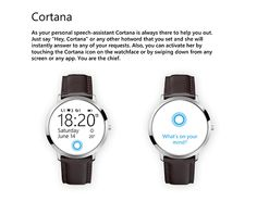 Microsoft smartwatch concept - windows for wearables on Behance