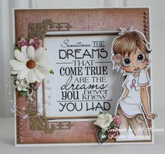 Jills scrappeside: Kreativ Scrapping ♥ Lovely SC Image and embellies. Embossing Stamp, Open Rose, Paper Crafts, Diy Crafts, Digi Stamps, Copics, I Card, Stamp Card, Scrapbook Cards