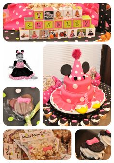 1st Birthday Minnie Mouse Themed