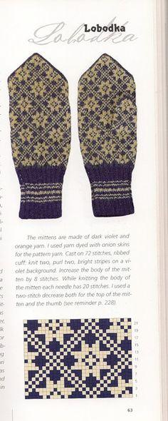 "Photo from album ""Варежки ))) схемы"" on Yandex. Mittens Pattern, Knit Mittens, Knitted Gloves, Knitting Socks, Hand Knitting, Knitting Charts, Knitting Patterns, Crochet Patterns, Knit Or Crochet"