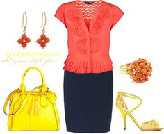 """Feminine Coral"" by bridgetteraes on Polyvore"