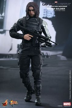 Sebastian ✪ Stan Hot Toys : Captain America: The Winter Soldier - Winter Soldier scale Collectible Figure Winter Soldier Movie, Winter Soldier Bucky, Sebastian Stan, Dc Comics, Captain America 2, Sideshow Collectibles, Bucky Barnes, The Martian, Marvel Characters