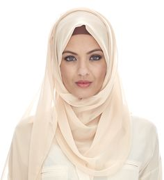 | CREAM SOFT GEORGETTE HIJAB £12.95 | Oh my....GOSH! This is insanely gorgeous! <3