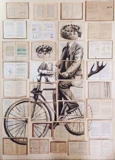 Page-turners: the woman who magics vintage books into art – in pictures Ekaterina Panikanova Art And Illustration, Vintage Books, Vintage Art, Art Du Collage, Art Alevel, Art Ancien, A Level Art, Inspiration Art, Arte Pop