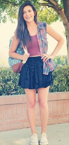 Back to school outfit by macbarbie07 on youtube :)
