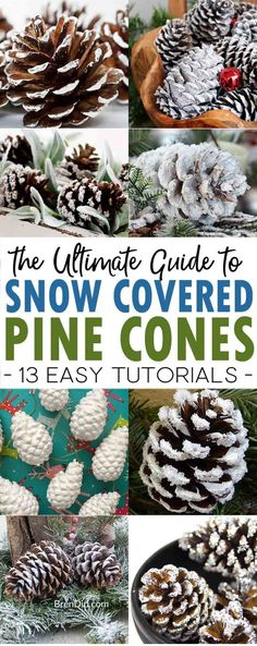 How to Make Snow Covered Pine Cones: The Ultimate Guide | 5 wasy to make snow covered pine cones | snowy pinecones | frosted pine cones #pinecones #snow #christmascrafts via @brendidblog