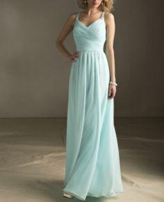 ===ETSY=== красивое))  Tiffany Blue Bridesmaid Dress Long Dress with straps by VEIL8