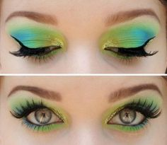 green and blue <3
