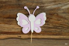 butterfly and flower party, 12- piece butterfly cutout. Cupcake topper, cake topper, center piece by EllyPartyShop on Etsy