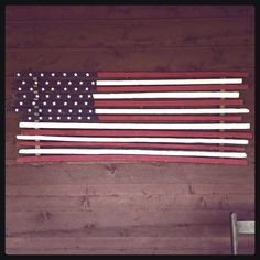 American Flag made from 100 year old cured tobacco sticks :)