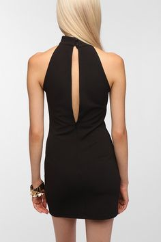 Pins and Needles Bodycon Turtle Neck Dress - Urban Outfitters