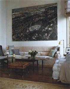 John Saladino Art can make a statement in your room or it can be THE statement.
