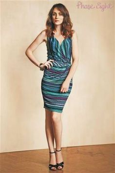 Phase Eight Multi Stripe Jersey Dress
