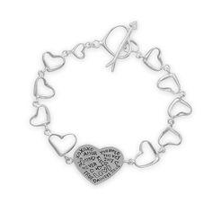 """7.5"""" Heart Link Message Bracelet – Crave & Envy"""