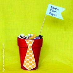 Idée de cadeau à faire confectionner par les enfants pour les papas !