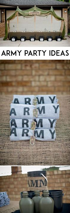 Army Party Ideas on Love The Day