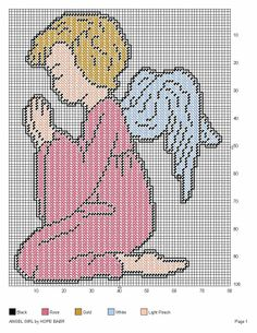 Angel girl praying PC Pattern