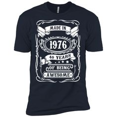 """""""Fashion's Made In 1976 - 40 Years of Being Awesome - Birthday tee Premium…"""