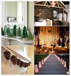 decoration_mariage_hiver_decoration_salle_lanterne_papier_arvre_luge ...