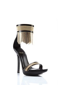 VERSACE | Metallic Fringed Sandals | Shoes | Women | Shop at us.versace.com - Official Online Store