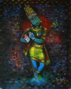New forever #acryliconcanvas #krishnafortoday