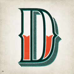 Part of a rad alphabet by Ryan Fease.