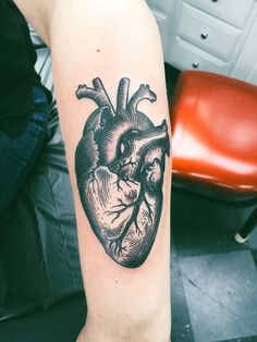 Anatomical heart done at The Aloha Monkey in Burnsville, MN!