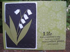 5/30/2012; Lynda at 'Lynda's Quiet Time' blog; the Memory Box tulip die used with a great result!!!