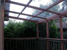 railing and roof Image result for option for clear pergola porch roof